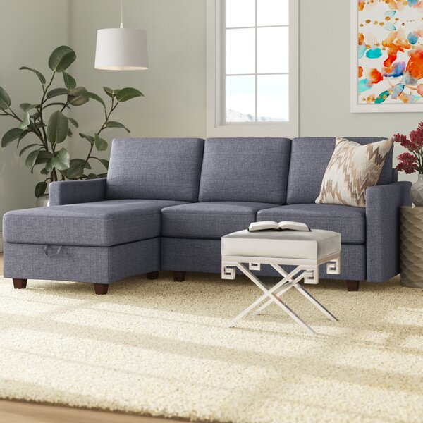 Highest Quality Zella Storage Reversible Sectional by Three Posts by Three Posts