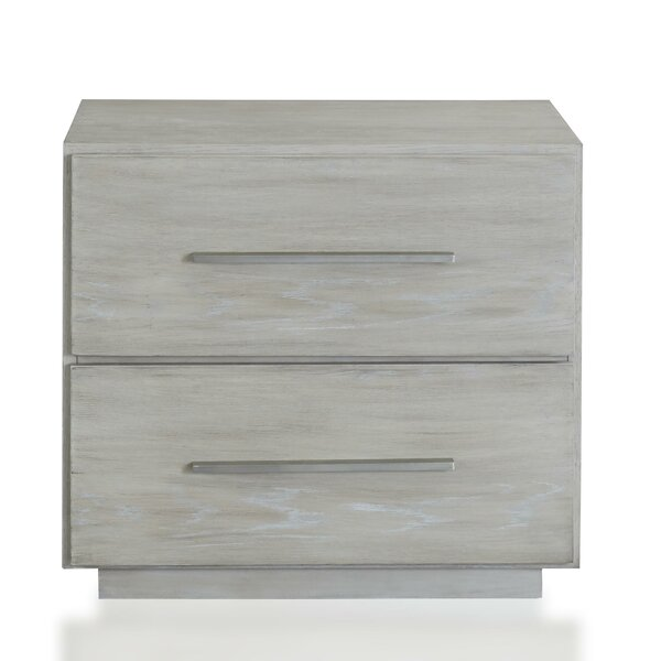 Reamy Wooden 2 Drawer Nightstand by Latitude Run