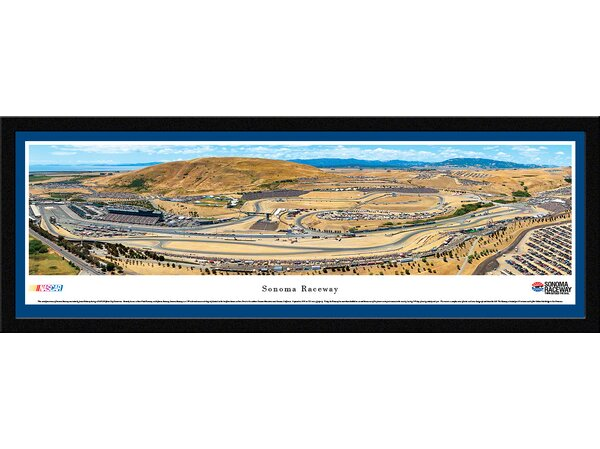 NASCAR Sonoma Raceway by James Blakeway Framed Photographic Print by Blakeway Worldwide Panoramas, Inc