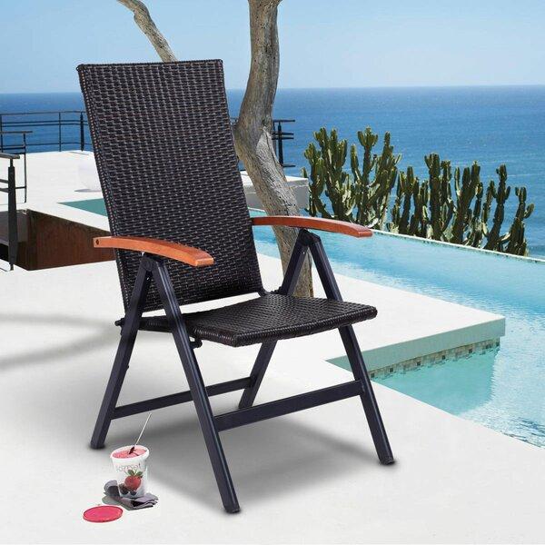 Patio Garden Plastic Folding Chair by Costway