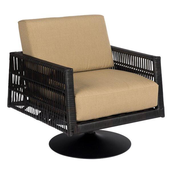 Maiz Swivel Patio Chair with Cushions by Woodard