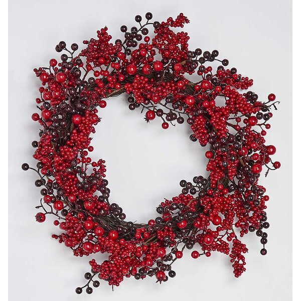 Berry 19 Styrofoam Wreath by August Grove