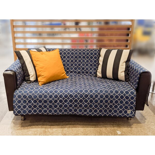 Lattice Rough Gem Box Cushion Sofa Slipcover By Red Barrel Studio