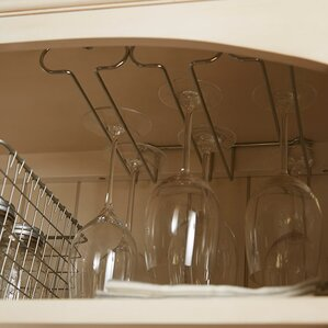 Triple Hanging Wine Glass Rack by Rebrilliant