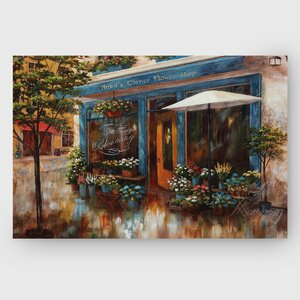 Anna's Corner Flower Shop by Nan F Painting Print on Wrapped Canvas by Wexford Home