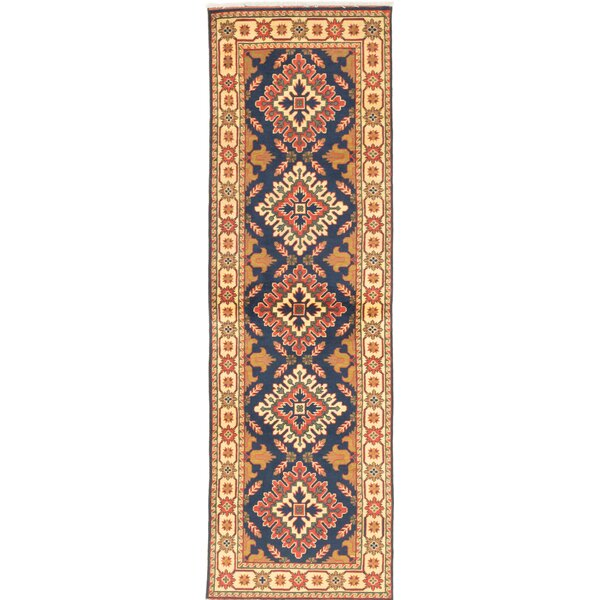 One-of-a-Kind Kargahi Hand-Knotted Blue/Yellow Area Rug by ECARPETGALLERY