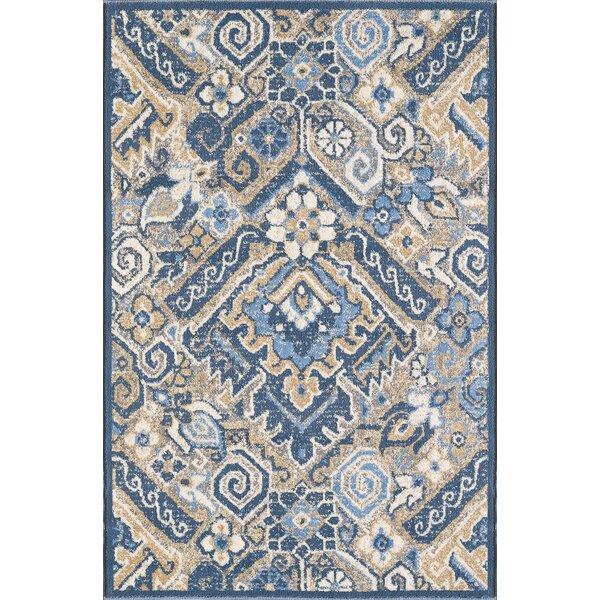 Nevins Blue Area Rug by Charlton Home