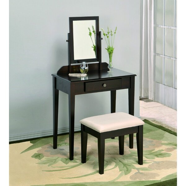 Maddalena Vanity Table & Stool Espresso By Red Barrel Studio®