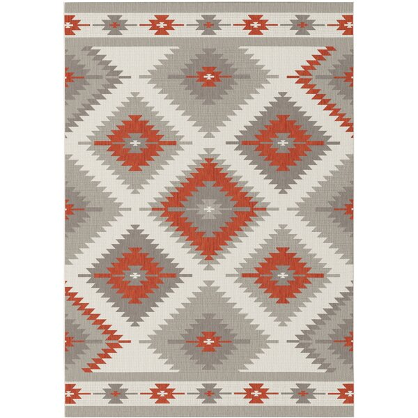 Star Geometric Gray Indoor/Outdoor Area Rug