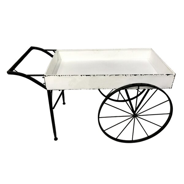 Cerie Utility Wagon Plant Cart Metal Wheelbarrow Planter by Gracie Oaks