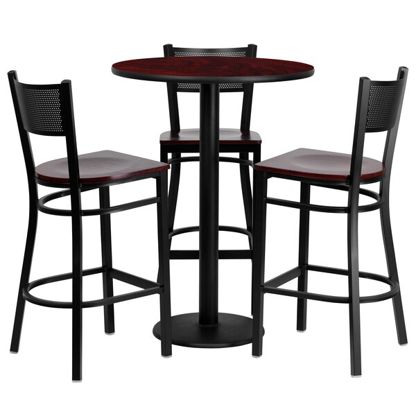 4 Piece Pub Table Set by Flash Furniture