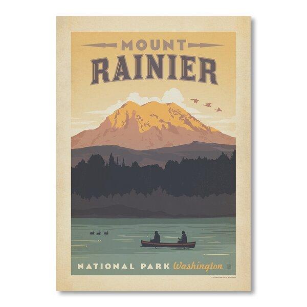 National Park Mount Rainier Vintage Advertisement by East Urban Home