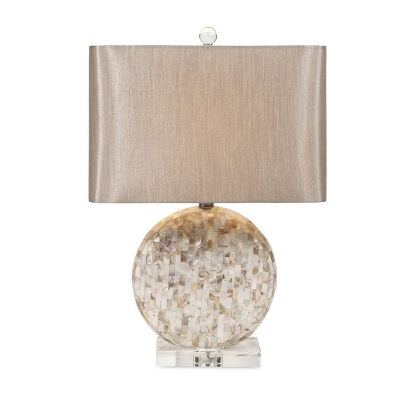 Sonja Classy Mother of Pearl 23 Table Lamp by Bloomsbury Market
