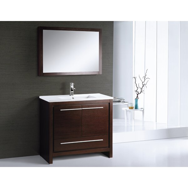 Alexa 36 Single Bathroom Vanity Set with Mirror by Adornus