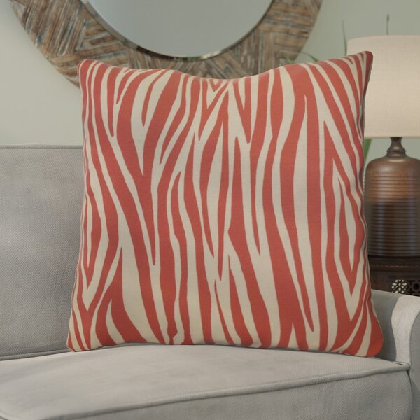Kam Wood Striped Geometric Euro Pillow by Bloomsbury Market