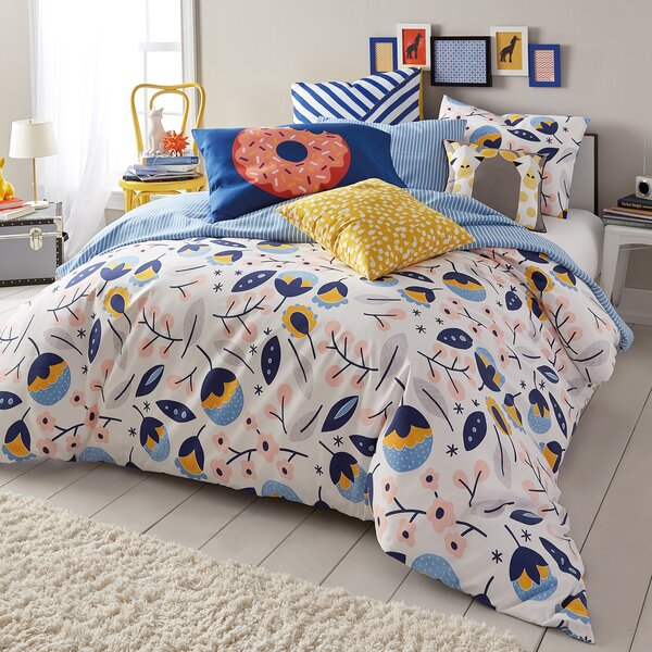 Hower Floral medley 2 Piece Comforter Set by Latitude Run
