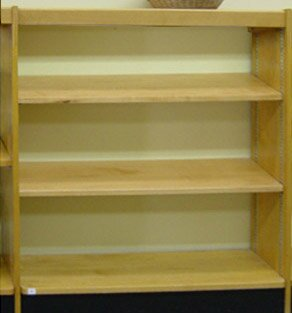 Open Back Single Face Shelf Standard Bookcase by W.C. Heller