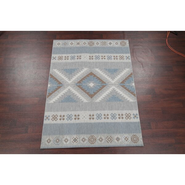 Boyden Navy Blue/Gray Area Rug by Union Rustic