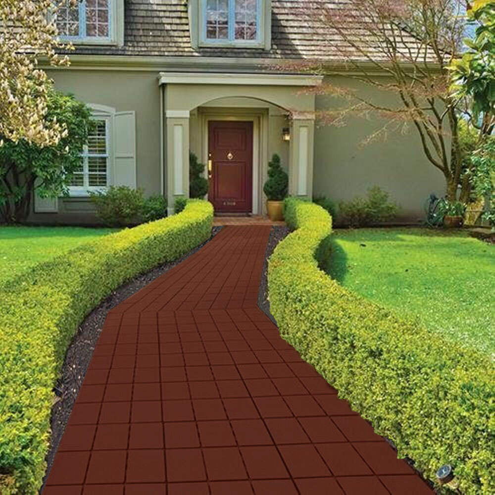 Faux Brick Patio Walkway Paver Set Of 12