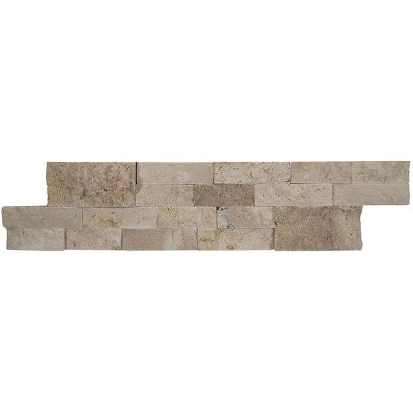 6 x 24 Travertine Splitface Tile in Roman Beige by MSI