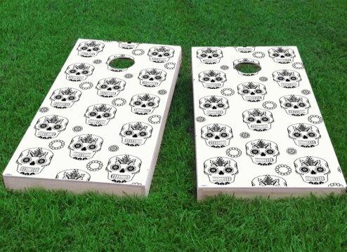 Sugar Skull Cornhole Game (Set of 2) by Custom Cornhole Boards