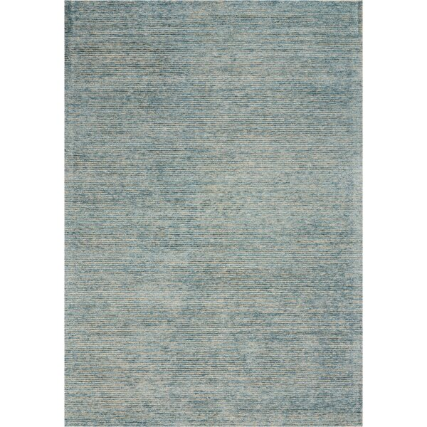 Romans Solid Hand-Tufted Seafoam Blue Area Rug by Highland Dunes