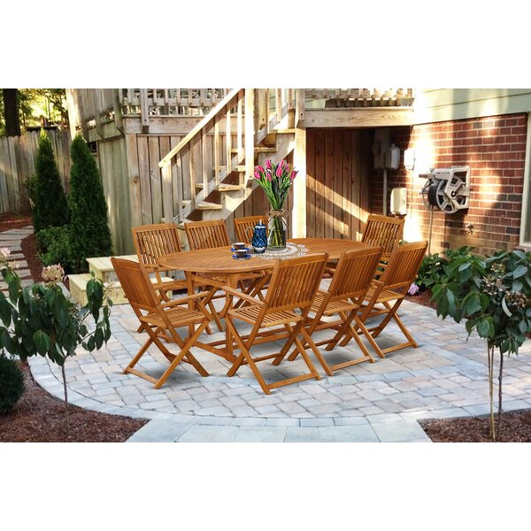 Marcelo 9 Piece Patio Dining Set by Longshore Tides