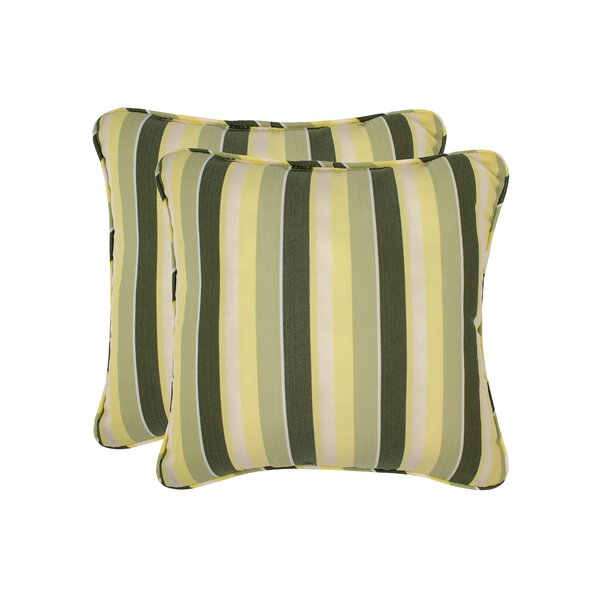 Mully Stripe Toss Outdoor Throw Pillow (Set of 2) by Red Barrel Studio