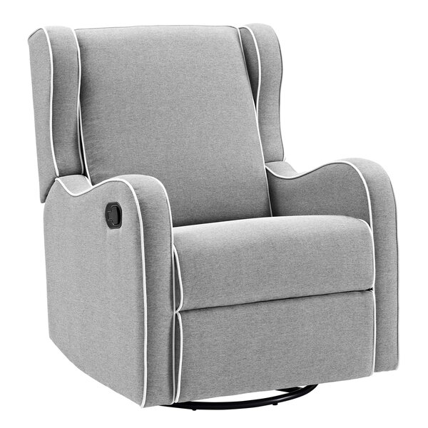 Rowe Upholstered Manual Swivel Glider Recliner by