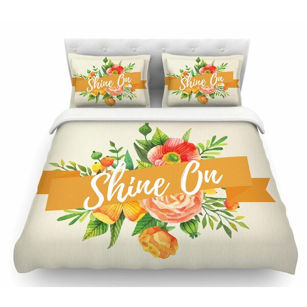 Shine On  Featherweight Duvet Cover by East Urban Home