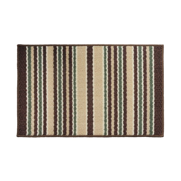 Brown/Green Area Rug by Attraction Design Home