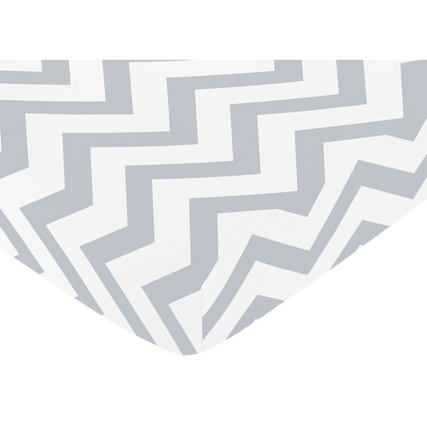 Chevron Fitted Crib Sheet by Sweet Jojo Designs