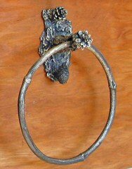 Lodgepole Lite Towel Ring by Timber Bronze 53, LLC