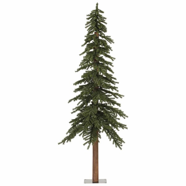 96'' Green Pine Trees Artificial Christmas Tree with Unlit by The Holiday Aisle