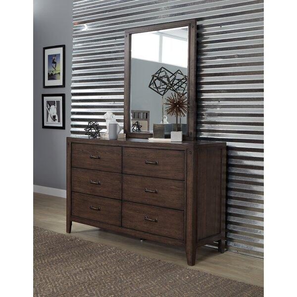 Ramiro 6 Drawer Double Dresser with Mirror by Gracie Oaks