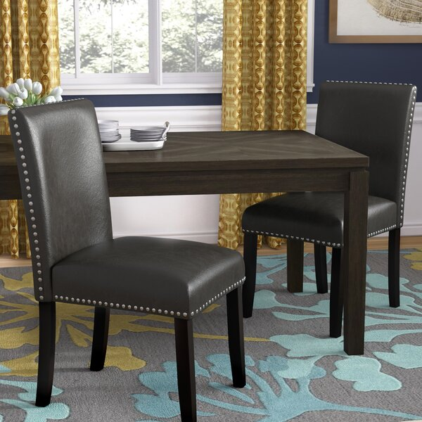 Groveland Upholstered Dining Chair In Black (Set Of 2) By Wrought Studio