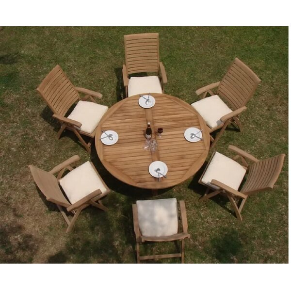 Jovani Luxurious 7 Piece Teak Dining Set by Rosecliff Heights