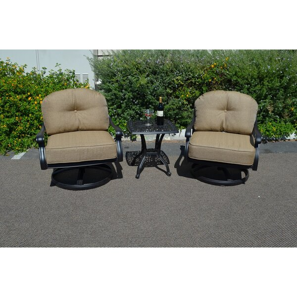 Elizabeth 3 Piece Conversation Set with Cushions by K&B Patio