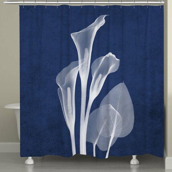 Fedler X-Ray Calla Lilies Shower Curtain by Latitude Run