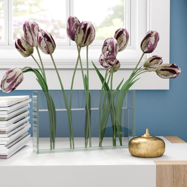 Light Weight Small Rectangular Glass Table Vase by Ebern Designs