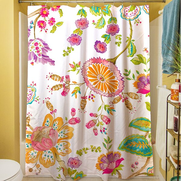 White Anima Shower Curtain by Manual Woodworkers & Weavers