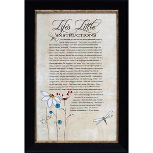 Life's Little Instructions by Tonya Framed Graphic Art by Andover Mills