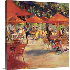 'Le Cafe du Jardin' by Peter Graham Painting Print on Canvas by Great Big Canvas
