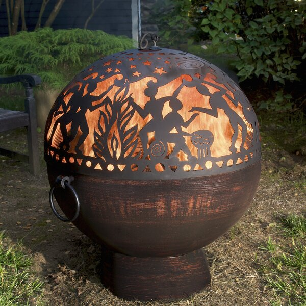 Full Moon Party Dome Steel Charcoal Fire Pit by Good Directions