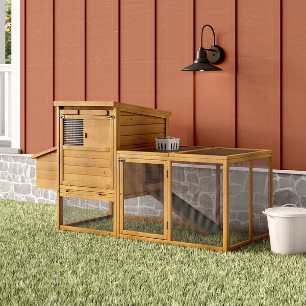 Auggie 75 Deluxe Wooden Chicken Coop with Outdoor Run by Archie & Oscar