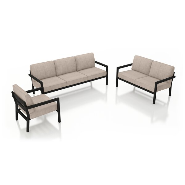 Iliana 3 Piece Sofa Loveseat with Sunbrella Cushions by 17 Stories 17 Stories
