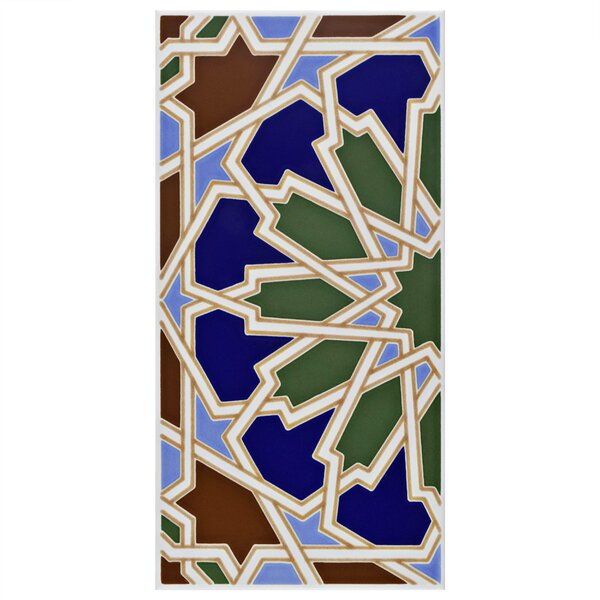 Esna 5.5 x 11 Ceramic Field Tile in Blue/Green by EliteTile