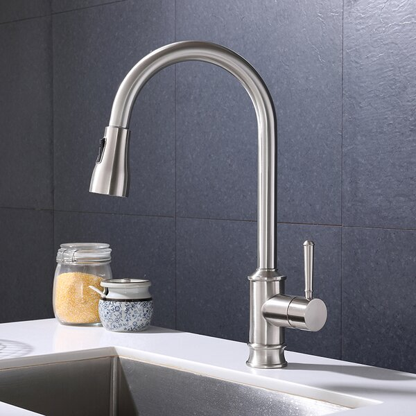 Pull Down Single Handle Kitchen Faucet By ZACHVO