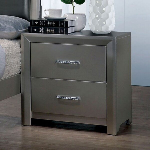 Weiland 2 Drawer Nightstand by Mercer41