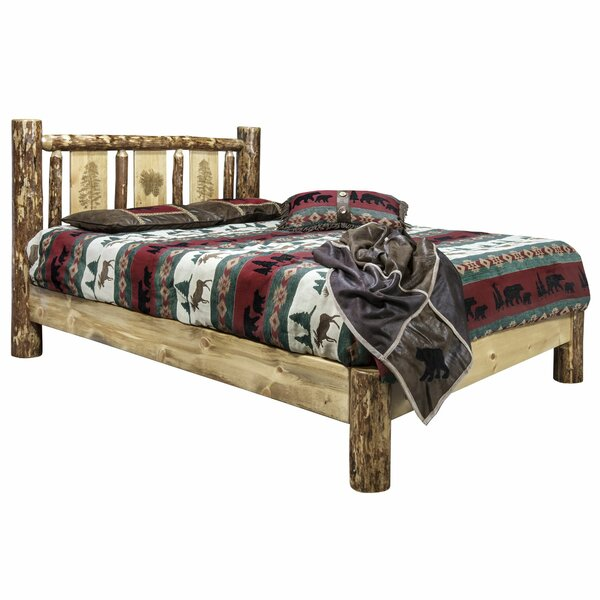 Shelley Pine Platform Bed by Loon Peak